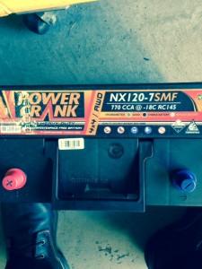Car batteries installed