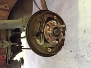 Faulty rear brakes
