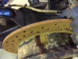 Rusty disc brakes