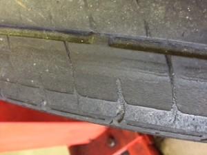 Wheel alignment fault